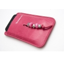 FANTASIA leather case with one colour pearls